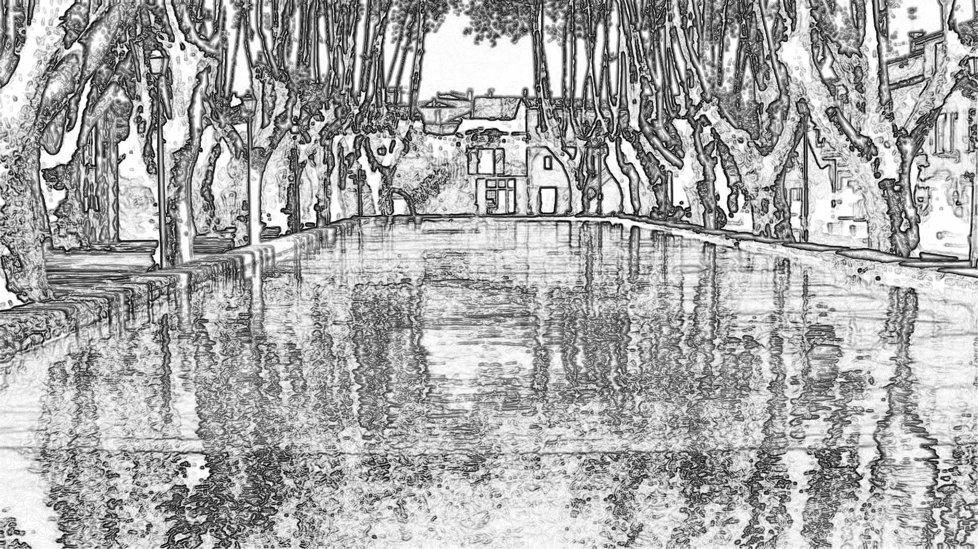Le bassin de l'Etang à Cucuron