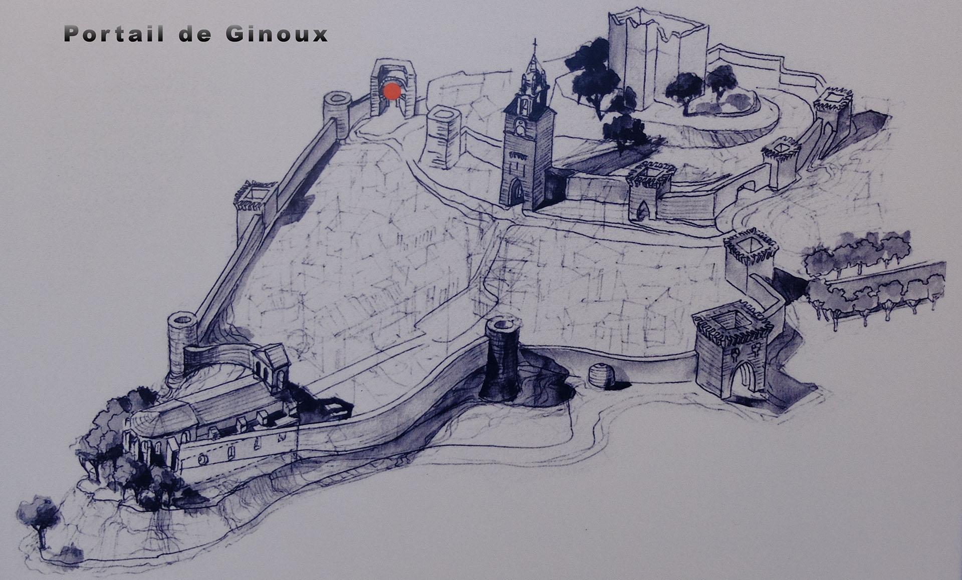 Situation Portail de GinouX à Cucuron