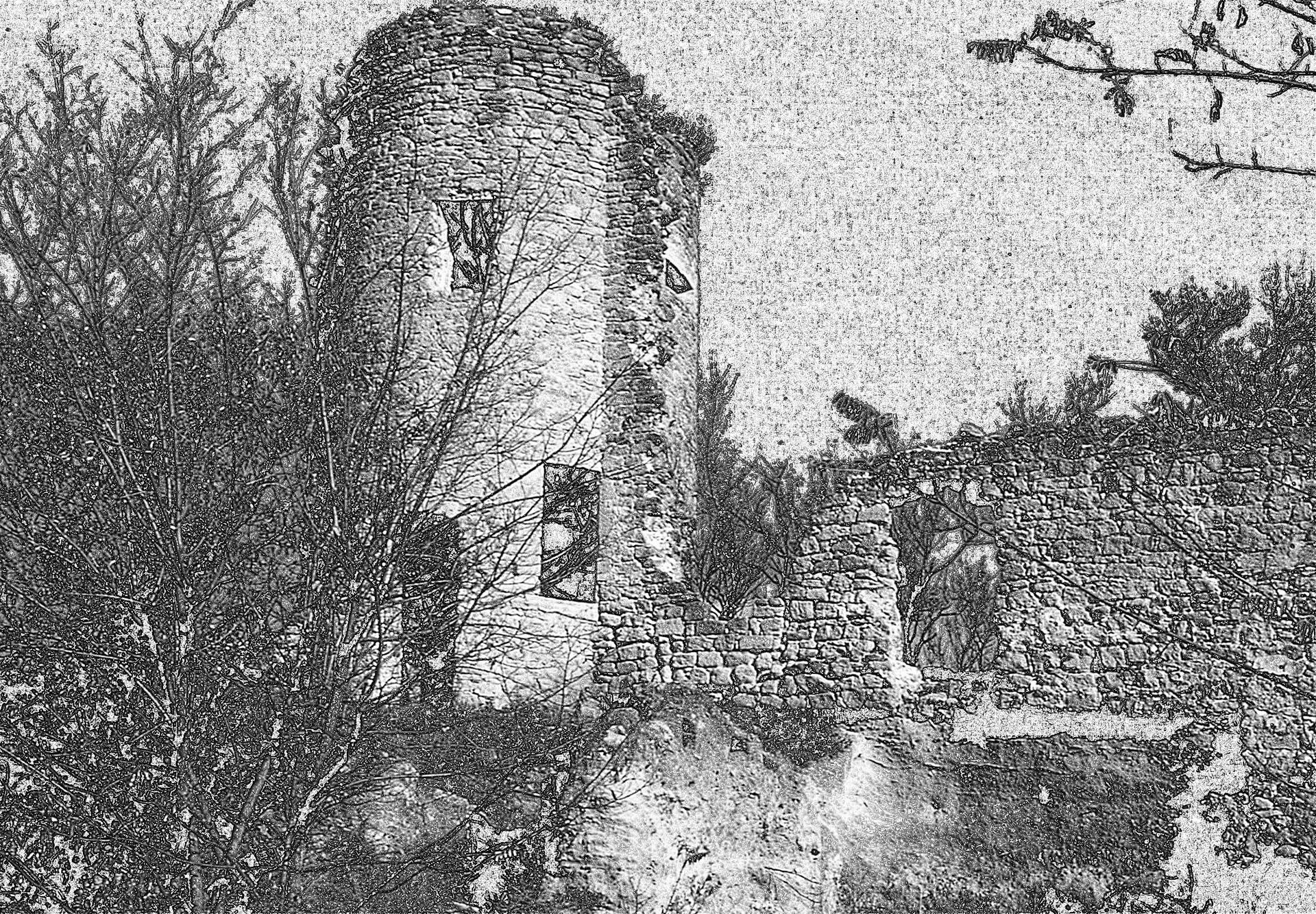 Tour Sus-Pous de la citadelle à Cucuron