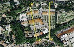 Présentation du projet Pourrières à Cucuron vue aérienne
