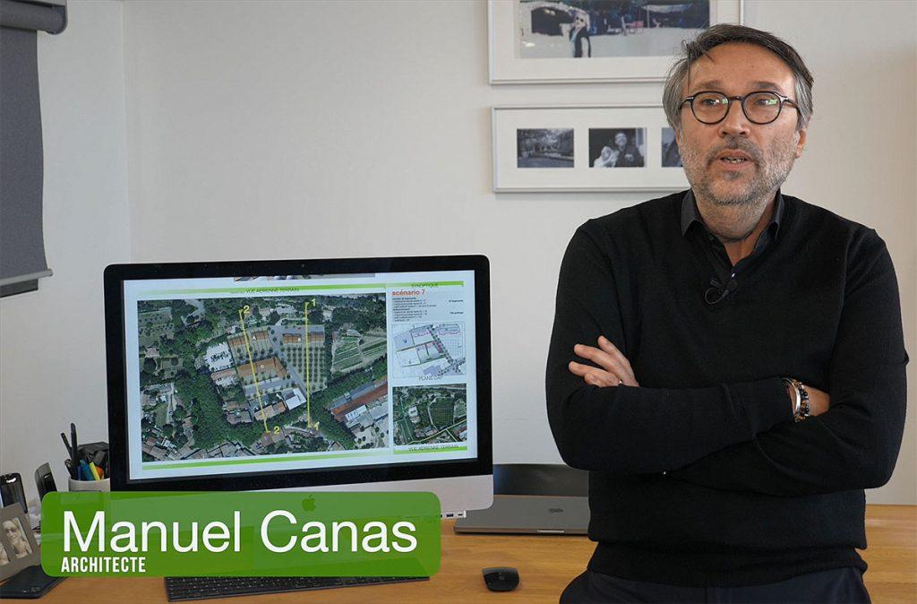Présentation du projet Pourrières à Cucuron par Manuel Canas